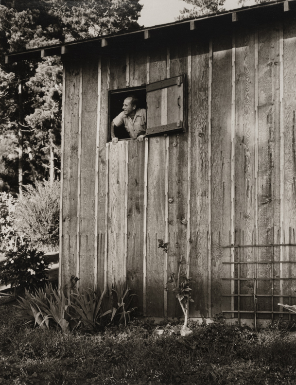 The Edward Weston Looking out of his Darkroom Window, Carmel, CA